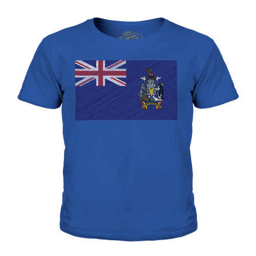 Candymix - South Georgia Scribble Flag - Unisex Kid's T-Shirt