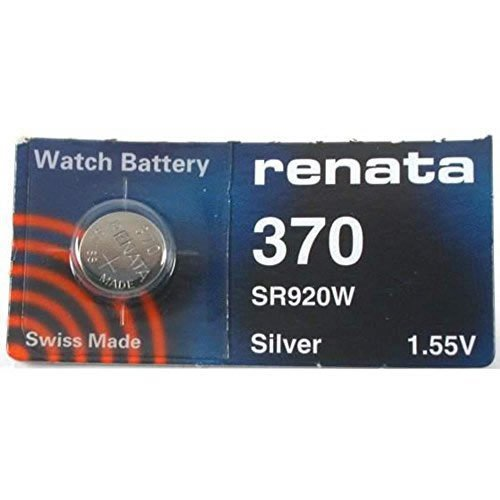 Renata 1.55 Volt Watch Battery 370 Replaces - Pack of 10 (SR920W)
