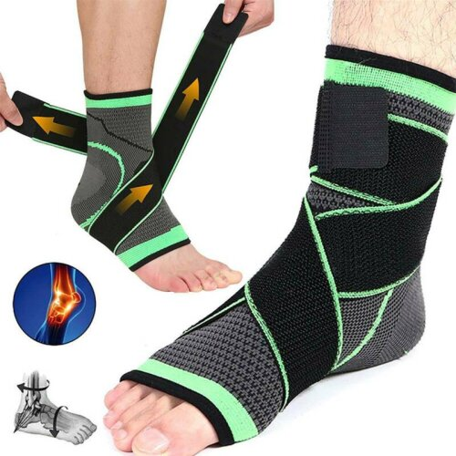 Ankle Support Compression Strap Achilles Tendon Brace Supports Sprain Protectibe