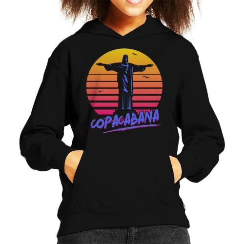 Copacabana With Statue Kid's Hooded Sweatshirt