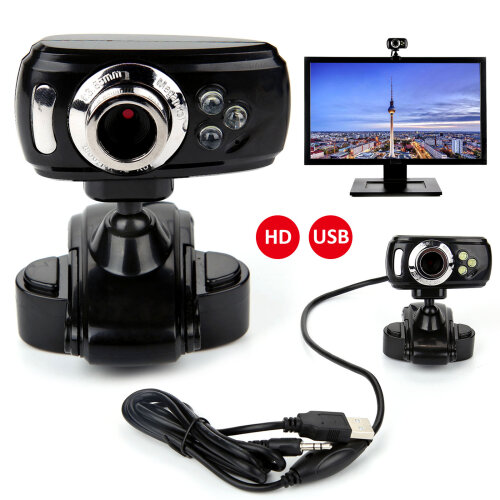 USB  HD Web Cam Camera Webcam With Microphone For Computer Laptop