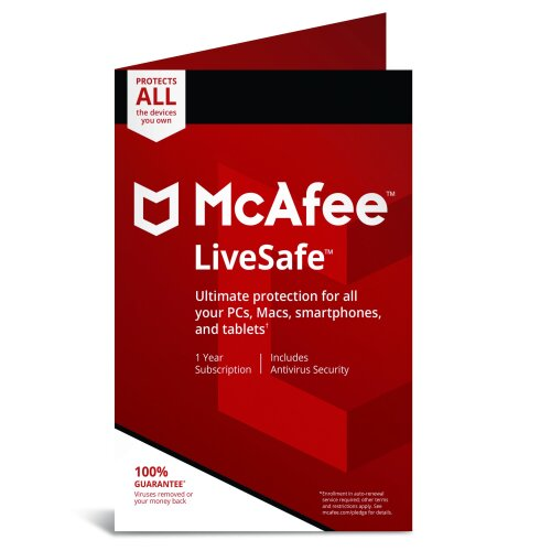 McAfee LiveSafe 2020 Unlimited Devices - 1 Year