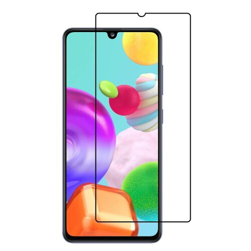 For Samsung Galaxy A41 Tempered Glass Screen Protector Case Friendly