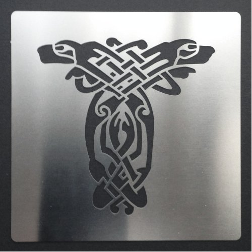 (A. Dog) Celtic Animal Knots Stainless Steel Crafting Stencil 7cm