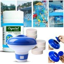 UK!Floating Chlorine Bromine tablet Dispenser+ 100g Pool Cleaning Tablet For Hot Tub Swim