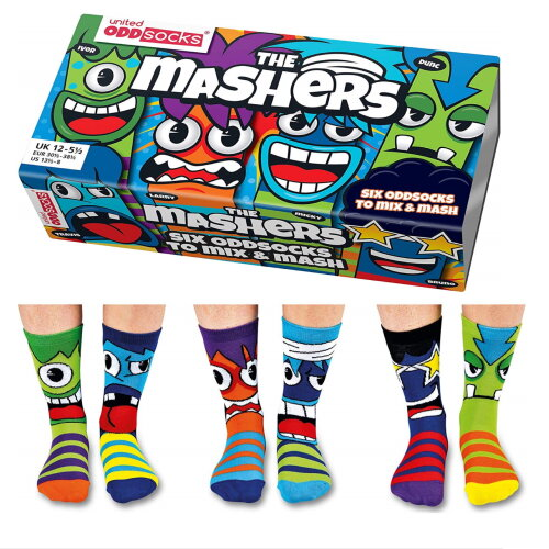 United Oddsocks The Mashers Bright Funky Multicoloured Socks UK 12-6