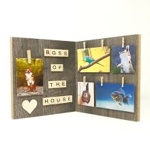 Boss of the House Pet Wood Photo Frame