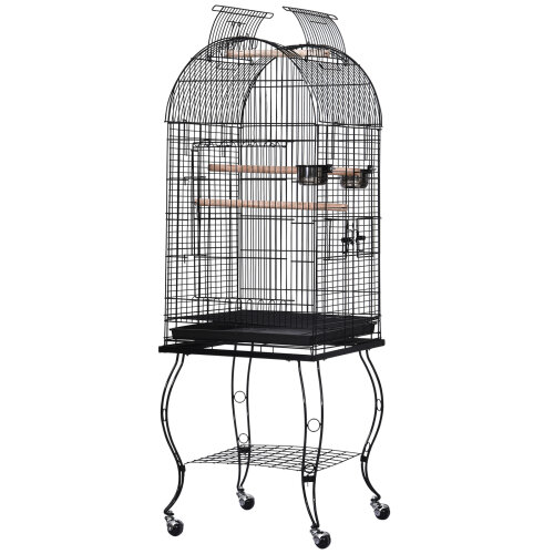 PawHut 1.4m Bird Cage Parrot Finch Macaw Conure Pet Supply Play Top Stand Perch