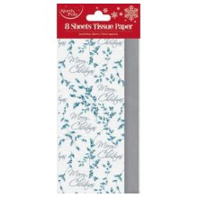 8 Sheets Christmas Tissue Paper - Christmas Holly