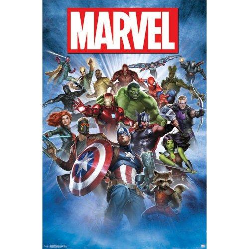 "Poster - Studio B - Marvel - Group Shot 23""x35"" Wall Art p5503"