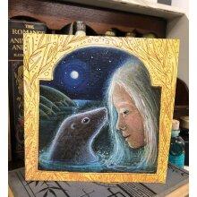 Selkie 2 Greetings card by Hannah Willow