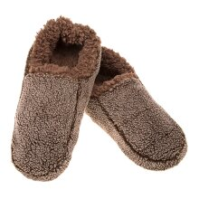 Snoozies! Mens Small Size 6-7 Two Tone Chocolate Slippers Super Soft Non Slip