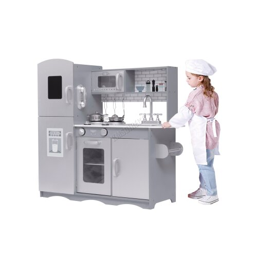 (Grey) GALACTICA Wooden Toy Kitchen   Wooden Activity Centre