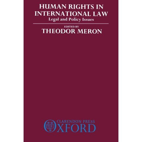 Human Rights in International Law: Legal and Policy Issues: 2v.in 1v