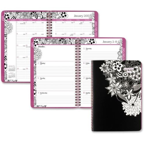 At A Glance AAG589200 FloraDoodle Weekly & Monthly Planner - Assorted Color