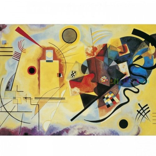 Jigsaw Puzzle - 1000 Pieces - Kandinsky : Yellow - Red - Blue