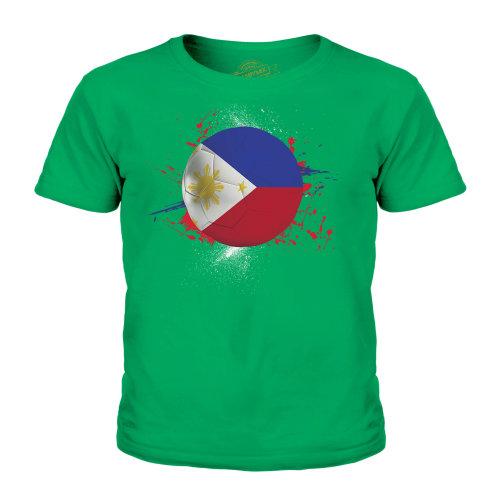 (Irish Green, 7-8 Years) Candymix - Philippines Football - Unisex Kid's T-Shirt