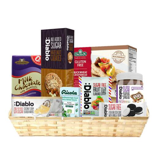 Diabetic Hamper Sugar Free Sweet Chocolate Cookie Spread Box Christmas