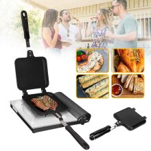 Pro Carp Camping Fishing Sandwich Toaster Grill Griddle Fry Pan Outdoors