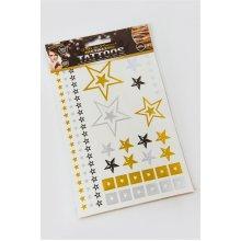 Metallic Star Temporary Tattoo Pack