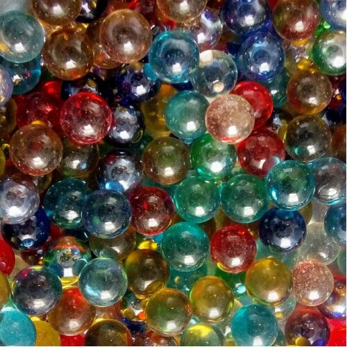 100 Mixed Colour Glass Marbles 16mm