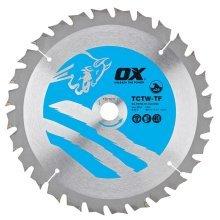 OX TCT Wood Cutting Thin Kerf Circular Saw Blade (Various Sizes)