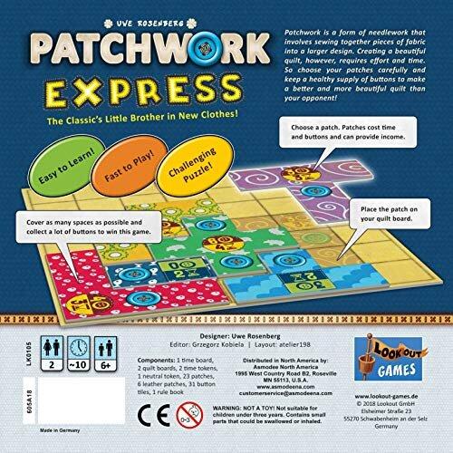 Lookout Games LK3543 Patchwork Express Multicolor