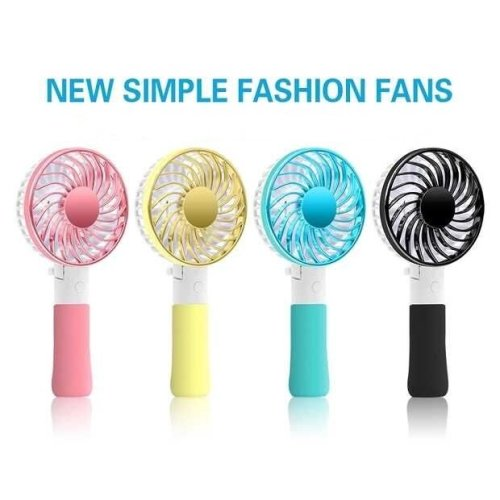 RECHARGEABLE MINI PORTABLE POCKET FAN COOL AIR HAND HELD BATTERY TRAVEL BLOWER