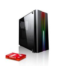 Fierce Phoenix Gaming PC, Fast AMD Ryzen 3 3100 3.9GHz, 1TB HDD, 8GB RAM, NVIDIA GTX 1050 Ti 4GB (507457)