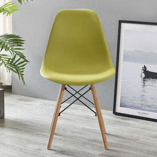 (Mustard) Dining Chairs Wooden Legs Office Kitchen Chairs