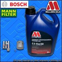 SERVICE KIT VW POLO MK5 6C 6R 1.0 CHYA CHYB OIL FILTER PLUGS +5w30 OIL 2014-2017