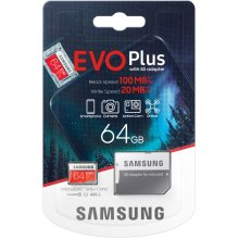 Samsung Evo Plus 64GB, 128GB, 256GB microSD SDXC Class 10 memory card New Model upto 100MB/S Full HD & 4K UHD
