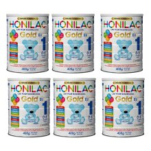 HONILAC Gold–Advance Infant Formula Stage 1, 400g-(Pack of 6)
