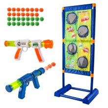 deAO Electronic Moving Shooting Target Game with Score, Air Shooting Guns and Balls for Kids