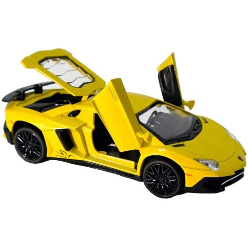 Alloy collectible Lamborghini toy car pull back die-casting car model with lights and sounds