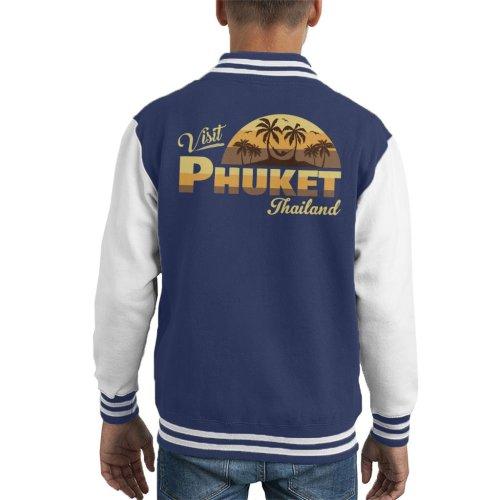 Visit Phuket Retro Beach Kid's Varsity Jacket