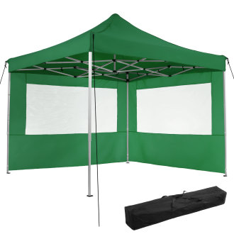 Gazebo collapsible 3x3 m with 2 Sides - Olivia -