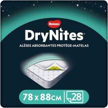 Huggies DryNites Disposable Bed Mats, Mattress Protector (4 Packs of 7, 28 Mats Total)