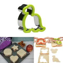Kids Sandwich Cutter Dino Shape Cookie Biscuit Pastry Baking Stainless Steel