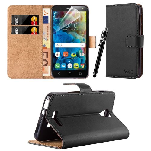 For Alcatel Pop 4 (5.0 Inch) Leather Wallet Case