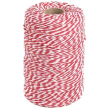 Tenn Well Red and White Twine, 656 Feet 200m Cotton Bakers Twine