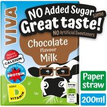 VIVA Chocolate No Added Sugar Milk Drinks - 27x200ml