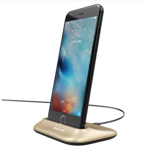 Baseus Little Volcano Charging Dock Station with Cable For iPhone 8 8 Plus Gold