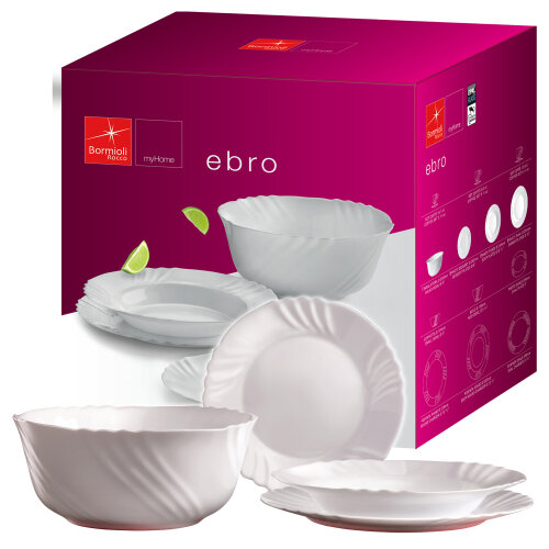 19 PCS Dinnerware Set | Bormioli Rocco Italian Porcelain Tableware