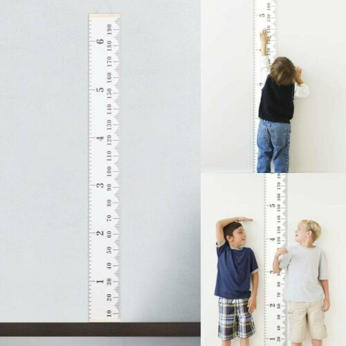 Children Kids Growth Height Chart Ruler Child Room Decor Wall Hanging Measure UK