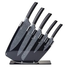 Tower T851001 Kitchen Knife Set with Acrylic Knife Block, 5 Piece