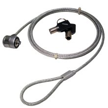 Laptop Security Cable with Barrel Lock & Key for Kensington Slot