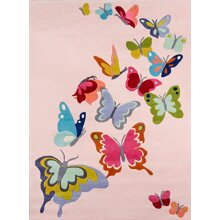 Momeni Rugs Lil Mo Whimsy Collection Area Rug, 3'0 x 5'0, Pink