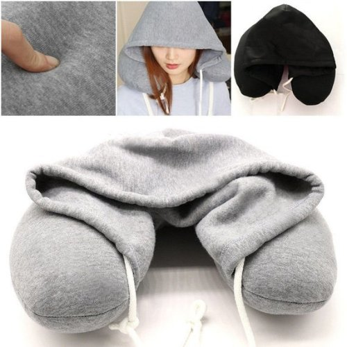 GEEZY Soft Comfortable Hooded Neck Travel Pillow