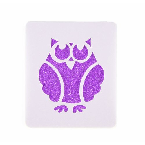 Owl Face Painting Stencil 7cm X 6cm 190micron Washable